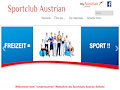 Website des Betriebssportvereines AUSTRIAN AIRLINES